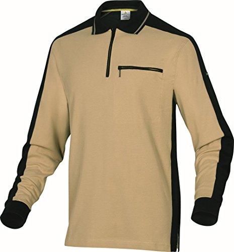 Delta Plus–Polo Mach Spirit m5pol Baumwolle grau/schwarz Größe XL beige