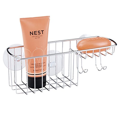 mdesign-bathroom-shower-suction-basket-for-shampoo-conditioner-soap-combo-chrome