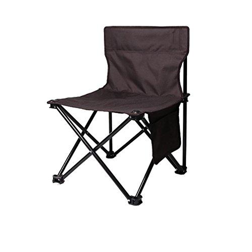 HRRH Tragbare Kleine Klappstuhl Hochwertige Outdoor Klappstuhl Angeln Stuhl Freizeit Stuhl Strand Stuhl Schwarz Painted Sketch Stuhl, L (Direktoren Rahmen Schwarzer)