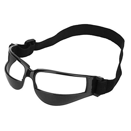Alomejor 1Basketball Trainings Brillen Dribbeln Ausbildung Kopf bis Basketball Brillen praktischer Sport Eyewear mit Verstellbarem Band, Schwarz -