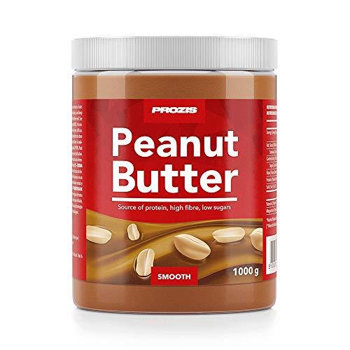 Prozis Beurre de Cacahuète 1 000 g Onctueux Texture Délicieuse - Source de Protéines Naturelles - Convient aux Régimes Végétalien, Kascher et Halal - Sans Sel Ajouté et sans Gras Trans