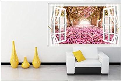 3D dreidimensionale Wandaufkleber , gefälschtes Fenster der Wohnzimmerhintergrundschlafzimmer -Aufkleber, selbstklebende Wandtapete, kreative (Gefälschte Brick)