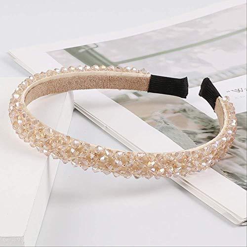 Pmli - cerchietto per capelli con strass luccicanti, accessorio per capelli, da donna, colore: champagne