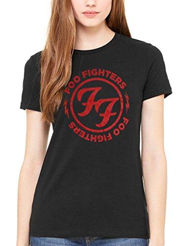 Producto oficial de Foo Fighters FF Círculo Rojo Logo Camiseta...