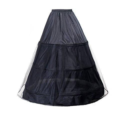 TUKA Reifrock 3 Ring verstellbar, Underskirt Unterrock, Krinoline Petticoat Gr. Middle passt Gr. 34...