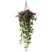 Blumentopf Hängend Blumenampel Makramee Mit Künstliche Rose Blumen Pflanze Blumenampel Hohes Simulationsdesign Für Garten Büro Hause Fenster Hof Hochzeit Freien Innen Deko