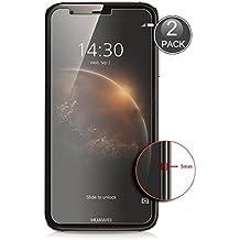 E-Hamii [2-Pack] Huawei Ascend G8 Protector de Pantalla, 0.26mm HD Anti-Scratch y Anti-huella digital Proteger la película, 9H Vidrio templado Cubierta protectora, Mejor protección (Nota: No cobertura completa)