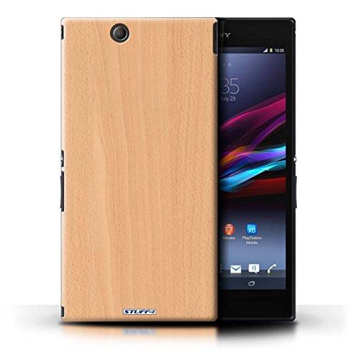 KOBALT® Hülle Case für Sony Xperia Z Ultra | Mahagoni Entwurf | Holz/Holzmaserung Muster Kollektion Buche