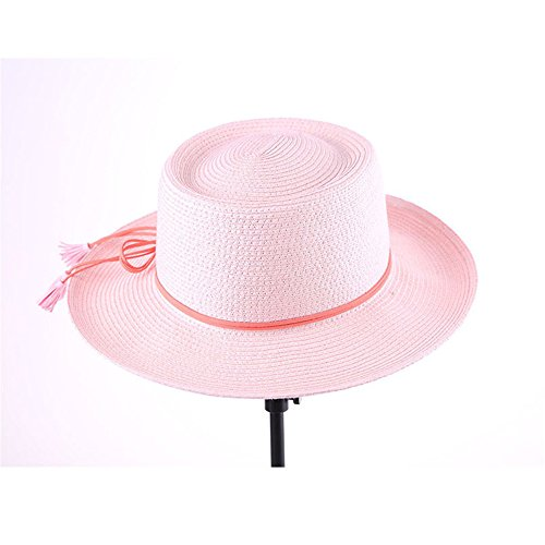 Spring and summer fashion sun hat beach vacation holiday flat top straw hat