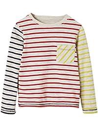 VERTBAUDET Camiseta Reversible para niño a Rayas/Estampado