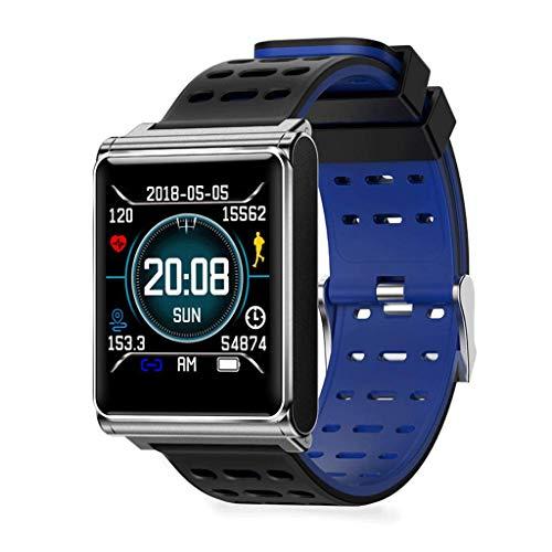 YYH Pulsera inteligente, pantalla táctil completa, baja potencia, recordatorio anti-pérdida impermeable, monitorización del sueño con ritmo cardíaco, rastreador de ejercicios, distancia a distancia, r