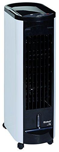 Einhell Luftkühler LK 70 (70 W, LED-Anzeige, Timer von 30 Min. bis 7,5 Std., automatische vertikale Lamellenverstellung, manuelle horizontale Lamellenverstellung, inkl. Kühlakku und Fernbedienung)
