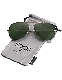 4a0e2fd0b4 SOJOS Gafas De Sol Rimless Para Mujer Hombre Taches TRENDALERT SJ1105