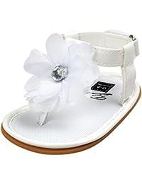 Tefamore Zapatos Sandalias Bebé de la flor de la perla Princesa del Primeras caminantes Muchachas Niños