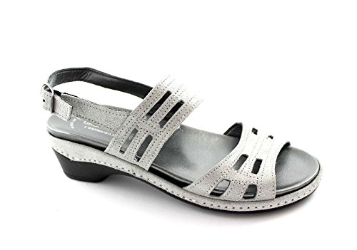 GRUNLAND DORA SE0071 grigio sandali donna plantare estraibile 38