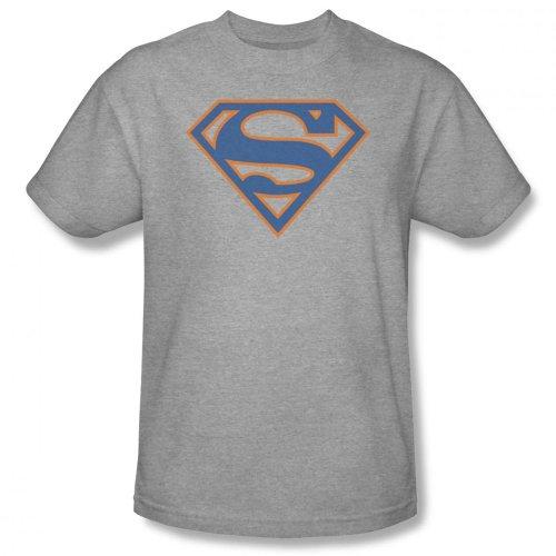 Superman - Männer Blue & orange Schild T-Shirt In Heather Heather