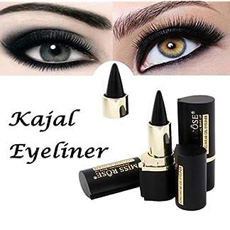 DIVISTAR Wateroroof Smoky Eyes Eyeliner Eyes Lápiz Gel Eye Liner Stickers Grueso Black Bold Eyes Liner Gel Lápiz Maquillaje cosmético (Negro)
