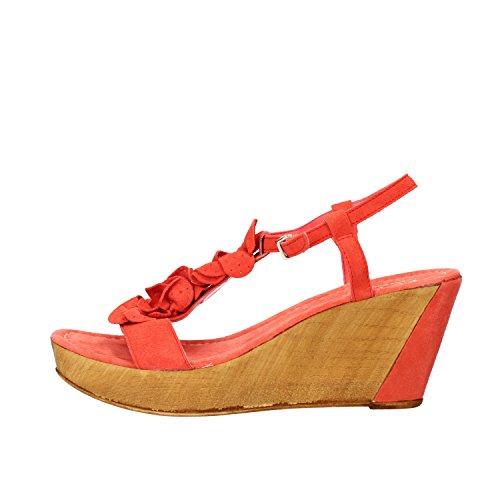 KEYS sandali donna corallo / blu / beige camoscio Corallo