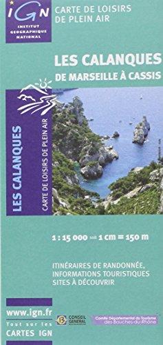 82011 LES CALANQUES DE MARSEILLE A CASSIS  1/15.000