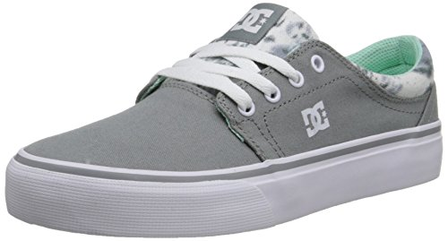 DC TRASE TX SE J SHOE PRB, Low-Top Sneaker donna Grey Feather Camo