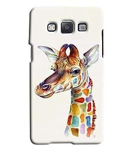 Clarks Giraffe Hard Plastic Printed Back Cover/Case For Samsung Galaxy E5