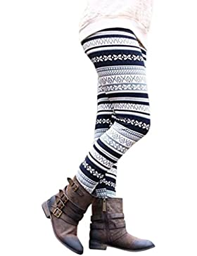 Leggins Mujer Vintage Impresión Patrón Pantis Otoño Invierno Fashion Elegantes Elásticos Basicas Skinny Pantalones...