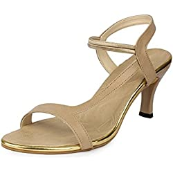 Do Bhai SND 300 Synthetic Heels for Women (40 EU, Beige)