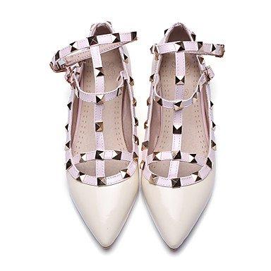 Confortevole ed elegante piatto scarpe donna Appartamenti primavera cadono Mary Jane PU Casual Party & Sera tacco basso Rivetto nero rosa Beige rosa rose pink