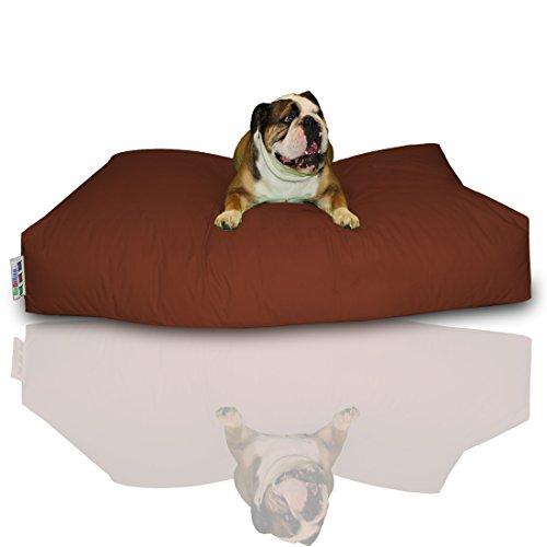 Bild: Hundekissen BuBiBag Größe 100x60x10 cm aus wasserdichtem Polyester Stoff in 23 verschiedenen Farben zur Auswahl braun