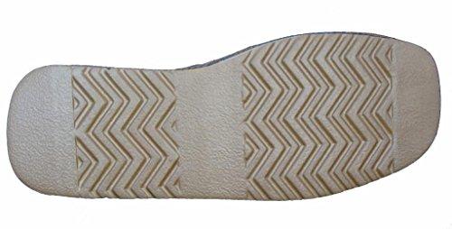 Herren Berühmt Dunlop BRANDON Kunstwildleder Hausschuhe Kastanienbraun