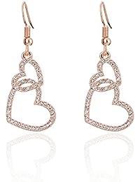 5a9e14df0746 Multi-Earring pendientes tous Temperamento corazón forma pequeño y simple  personalidad amor micro perforado