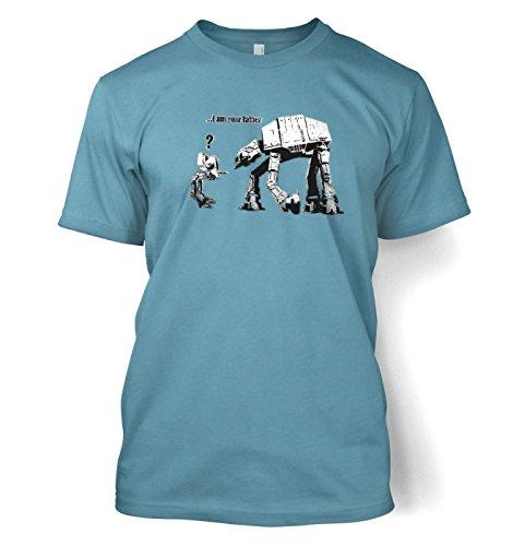 Banksy I Am Your Father Herren t-shirt Stone Blau