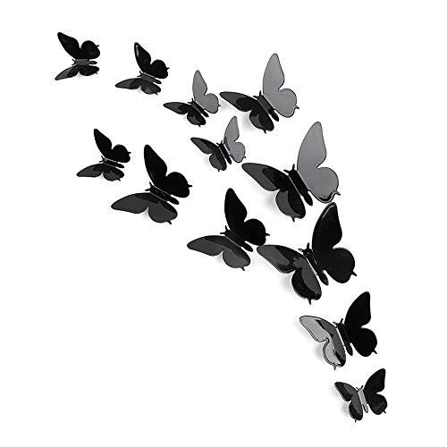 (3D DIY Kunst Wandaufkleber Schmetterling Home Decor Zimmer Dekorationen 12 stücke)