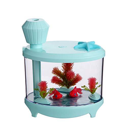 XKSJSQ 460 ml USB luftbefeuchter, tragbare kleine Aquarium kalter Nebel luftreiniger mit 7 Cloor led-leuchten und Timer Office Home Kinder Schlafzimmer,Green