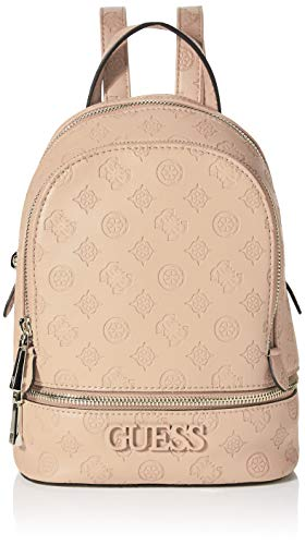 Guess Skye Backpack, Zaino Donna, Bianco (Latte), 9x26.5x20 cm (W x H x L)