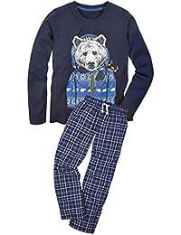 943e59858e Jungen Flanell Schlafanzug Pyjama 2-teiler 3 Farben 122 128 134 140 146 152