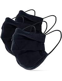 tanzmuster ® Behelfsmaske waschbar für Kinder und Erwachsene 100% Baumwolle - Nasenbügel und Filtertasche - Mund und Nasenschutz 2-lagig - OEKO-TEX Standard 100