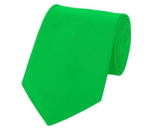 Fabio Farini Seidenweiche Krawatte 8 cm in verschiedenen Farben, für Hochzeit Business Weihnachten (One Size, Hellgrün)