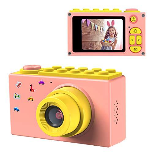 ShinePick Cámara de Fotos para Niños,Mini Video Cámara Zoom Digital de 4X / 8MP / 2' TFT LCD de la Pantalla con Tarjeta de Memoria (Rosa)