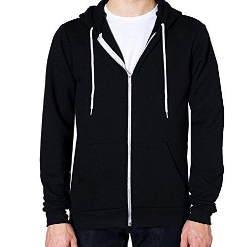 Mymixtrendz® Mens American Fleece Plain Hoodie Hooded Zipper Sweatshirt Hoody Size S-5xl