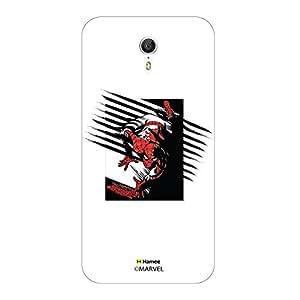 Hamee Original Marvel Character Licensed Designer Cover Slim Fit Plastic Hard Back Case for Lenovo Zuk Z1 (Spiderman Scratch)