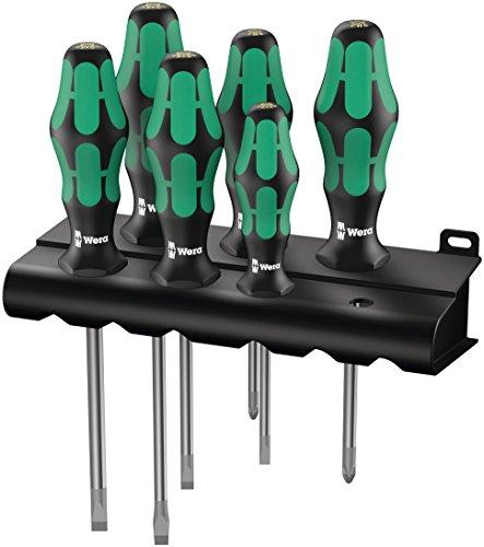 Preisvergleich Produktbild Wera Schraubendrehersatz 334/6 Rack Kraftform Plus Lasertip + Rack, 6-teilig, 05105650001