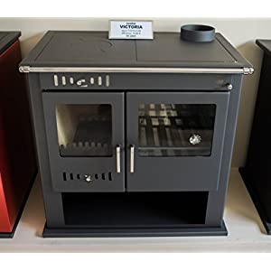 Estufa de leña Cocina Chimenea Horno Cocina Combustible Sólido 9 Kw Victoria