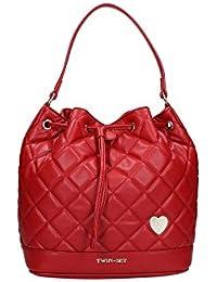 Borsa secchiello zaino Twin Set matelassè rossa absolute red trapuntata Twin  Set Simona Barbieri 2368492df46