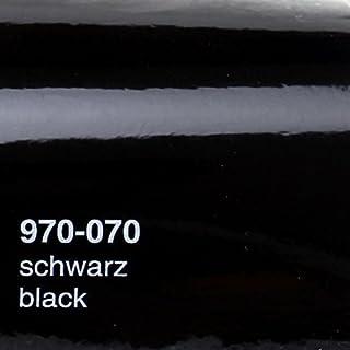 Oracal 970RA 070 Schwarz Glanz gegossene Profi Autofolie 152cm breit BLASENFREI mit Luftkanäle