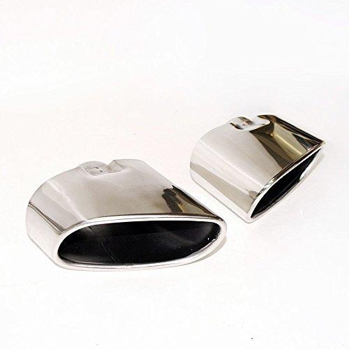 Doppio tubo di scarico cromato fine marmitta punta in acciaio INOX