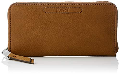 Esprit Accessoires Damen Tori Caszipcltc Geldbörse, Braun (Rust Brown), 2x9,5x19 cm