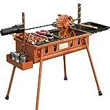 WANG XIN Barbecue Selvaggio Barbecue a Legna Stufa per Uso Domestico Barbecue Barbecue Pieghevole per Esterni