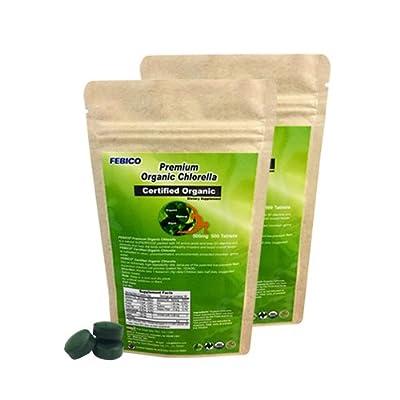 FEBICO Organic Chlorella Tablets 500g. With Chlorella Growth Factor from FEBICO Taiwan