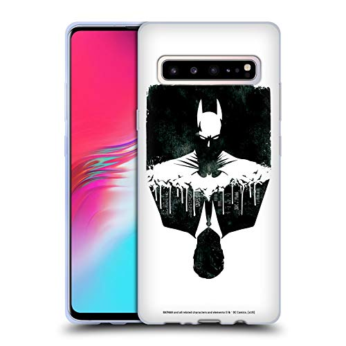 Stadtbild 1 T-shirt (Head Case Designs Offizielle Batman DC Comics Alter Ego Stadtbild Dualitaet Soft Gel Huelle kompatibel mit Samsung Galaxy S10 5G)